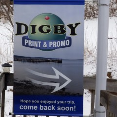 Digby Print & Promo pole banner - Designed by Digby Print & Promo