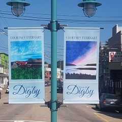 Double sided banners - Designed by Digby Print & Promo