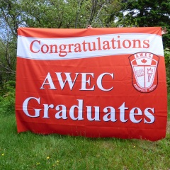 Annapolis West Educational Centre graduation backdrop - Designed by Digby Print & Promo