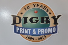 Digby Print & Promo anniversary decal