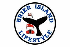 Brier Island Lifestyle with whale and lighthouse