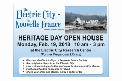 The Electric City open house flyer