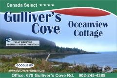 Gulliver's Cove Cottage sign