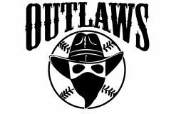 Outlaws logo designed for one colour imprint on jerseys