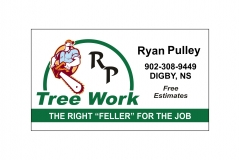 RP Tree Work logo and business card