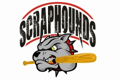 Scraphounds logo made for local softball team
