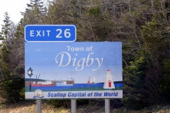Town of Digby highway sign - designed by Digby Print & Promo