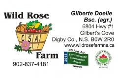 Wild Rose Farm logo and business card