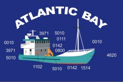 Picture of boat redrawn for embroidery