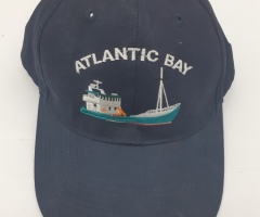 Atlantic Bay boat embroidered on a hat - Designed by Digby Print & Promo