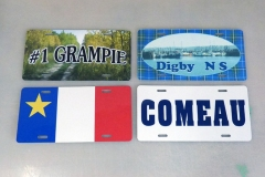 Personalized license plates - Designed by Digby Print & Promo