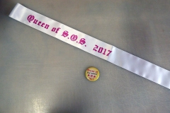 Sash and button - Designed by Digby Print & Promo