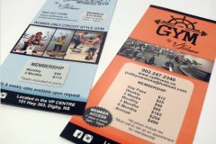 The Gym rack cards - Designed by Digby Print & Promo