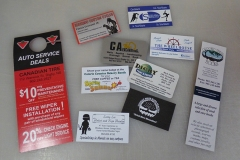 Printing samples - business cards, bookmarks, door hangers