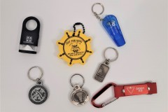 Promotional keychains from flashlights to floater tags