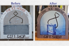 The House House sign before and after - Designed by Digby Print & Promo