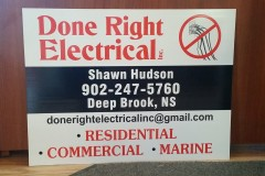 Coroplast sign - Designed by Digby Print & Promo