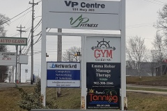 Vp Centre double sided signs - Designed by Digby Print & Promo