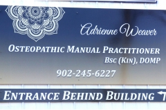 Adrienne Weaver sign and directional sign - Designed by Digby Print & Promo