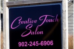 Creative Touch Salon sign - Designed by Digby Print & Promo