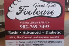 Great Gait Footcare sign - Designed by Digby Print & Promo