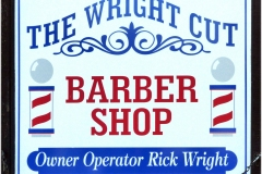 The Wright Cut sign - Designed by Digby Print & Promo